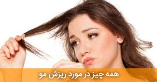 همه چیز در مورد ریزش مو