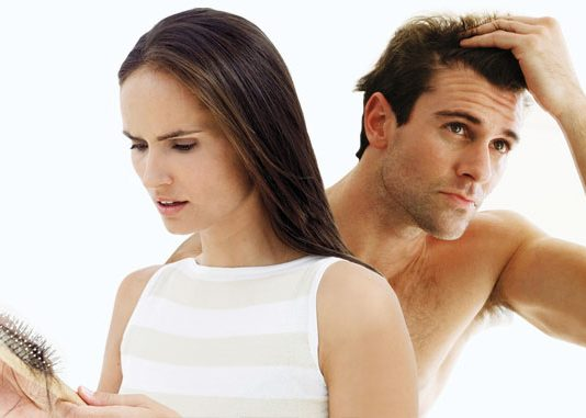 عارضه ریزش مو در زنان و مردان