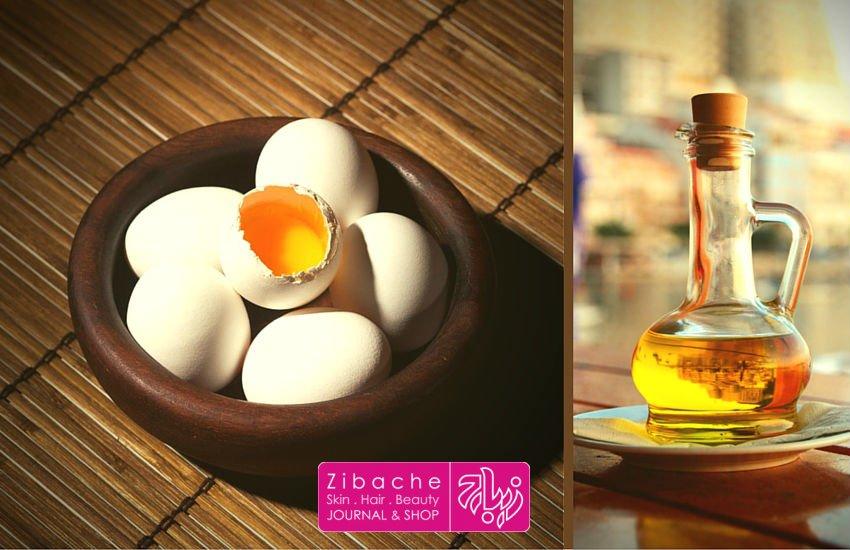 روش های دیگر برای پرپشتی مو - تخم مرغ و روغن زیتون