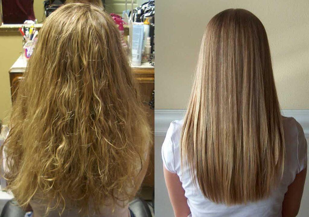 استفاده از سرم صاف کننده برای صاف و براق کردن مو