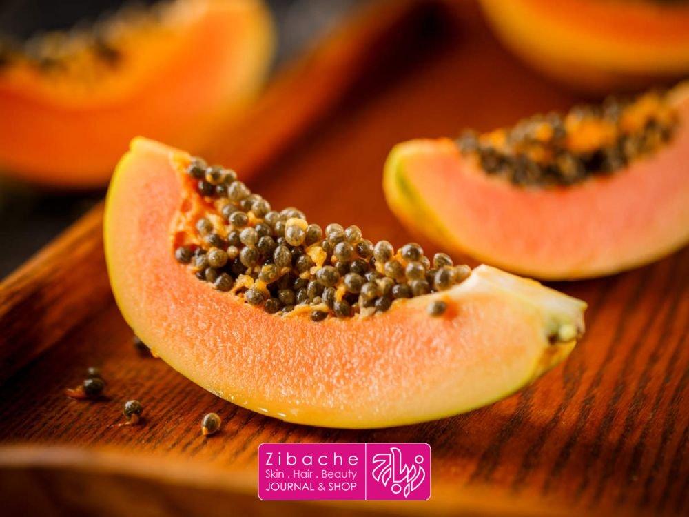 درمان آکنه با خوردن میوه پاپایا